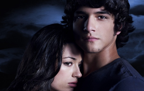 Picture actress, brunette, Crystal Reed, Crystal Reed, Tyler Posey, Scott McCall, Allison Argent, Tyler Posey