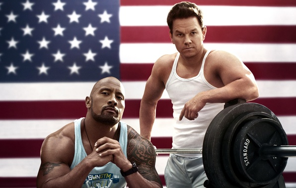 Picture flag, America, Mark Wahlberg, Dwayne Johnson, Dwayne Johnson, Mark Wahlberg, Daniel Lugo, Blood and sweat, …