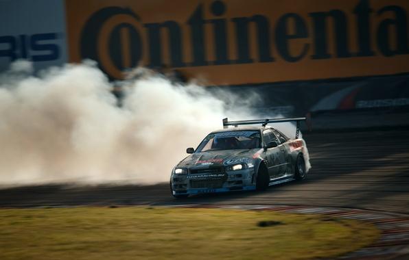 Picture GTR, drift, Nissan, drift, skyline, R34, Maxim Tvardovsky