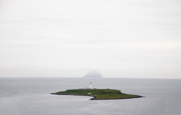 Picture sea, lighthouse, island