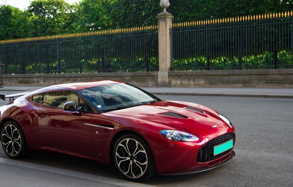 Picture Aston Martin, Paris, Red, France, V12, Supercar, Zagato