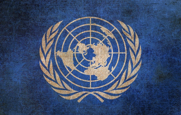 Picture the world, logo, flag, coat of arms, UN