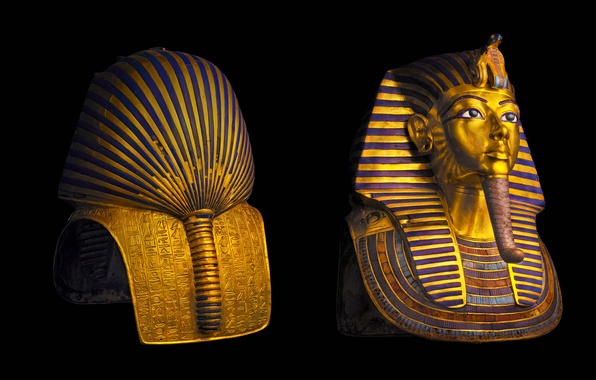 Picture Pharaoh, Egypt, Cairo Museum, mask of Tutankhamun