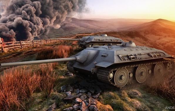 Picture Wallpaper, world of tanks, wot, e-25, e-25
