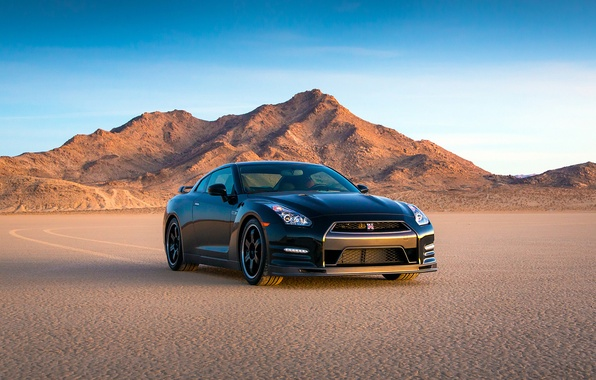 Picture Desert, Machine, Black, Nissan, Nissan, GT-R, GT-R, Egoist, 2014, Track Edition