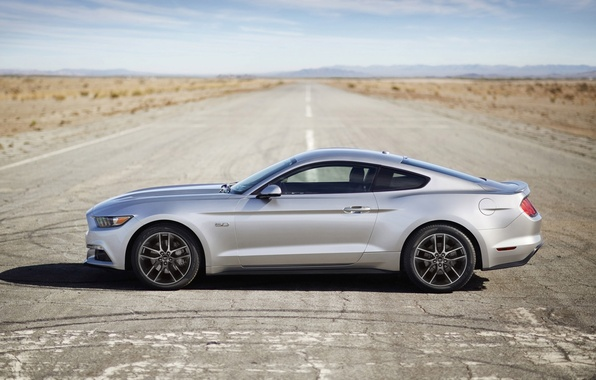 Picture Mustang, Ford, horizon, Ford, Mustang, side view, Muscle car, Muscle car