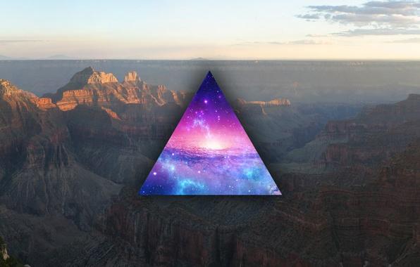 Picture stars, nebula, triangle