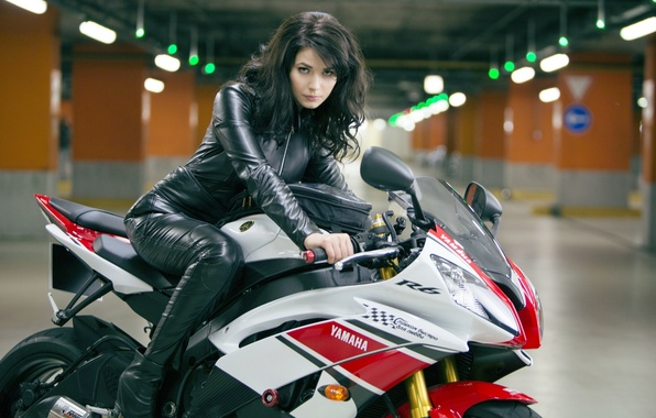 Picture girl, sexy, actress, motorcycle, sexy, beauty, Yamaha, Die hard, Yuliya Snigir, Good day, to die, …