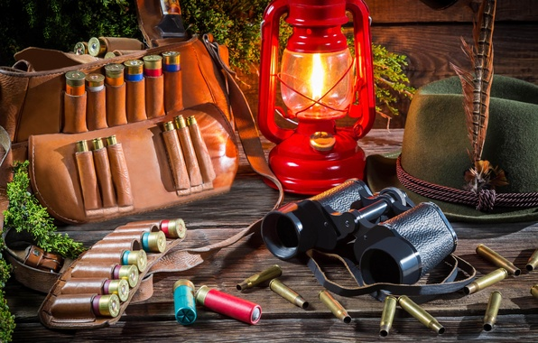 Picture summer, light, nature, lamp, hat, blur, lantern, binoculars, hunting, bag, strap, cartridges, sleeve, equipment, on …