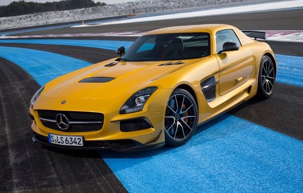 Picture yellow, Mercedes-Benz, Mercedes, AMG, SLS, the front, Black Series, AMG