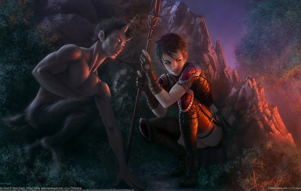 Picture CG Wallpapers, Spear, Zilis Scout, Hell