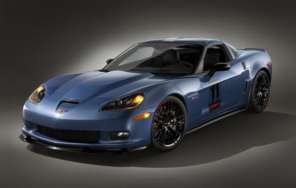 Picture blue, Z06, Corvette, сarbon