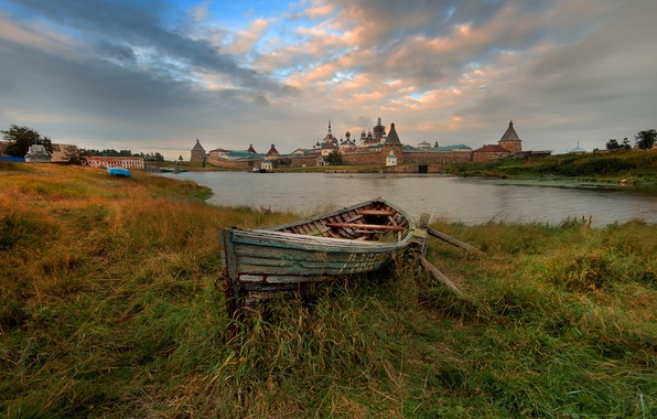 Picture boat, Transfiguration, Solovetsky monastery