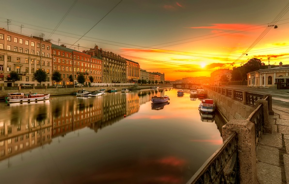 Picture Saint Petersburg, Russia, Fontanka