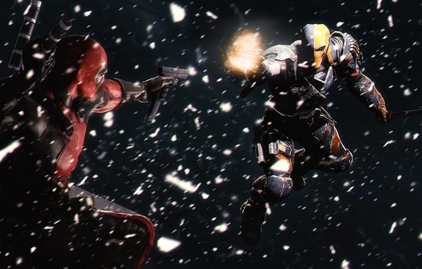 Picture Deadpool, crossover, dc comics, marvel comics, Deathstroke, anti hero