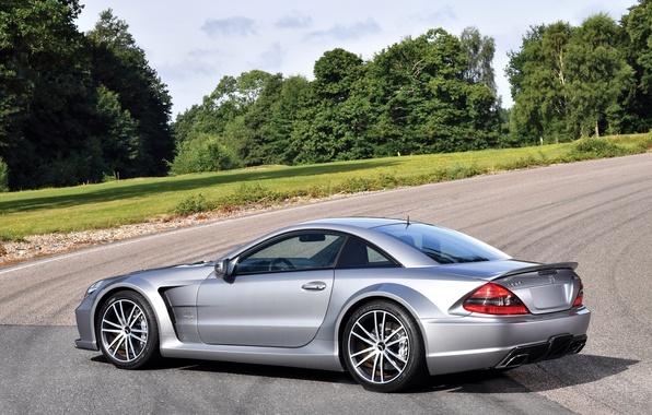 Picture car, auto, Mercedes-Benz, silver, wallpaper, Mercedes, AMG, Black Series, SL 65