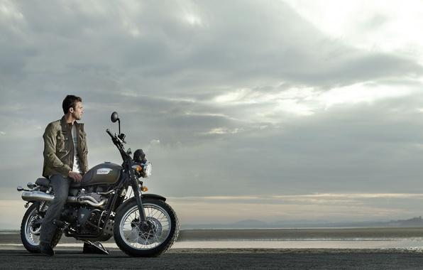 Picture motorcycle, Triumph, Scrambler