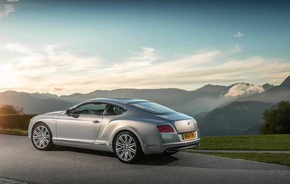 Picture The sky, Auto, Bentley, Continental, Wheel, Machine, Grey, Bentley, Coupe