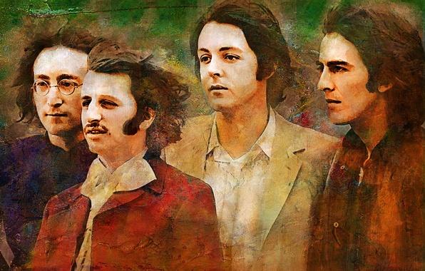 Picture music, The Beatles, legend, George Harrison, John Lennon, Paul McCartney, Ringo Starr