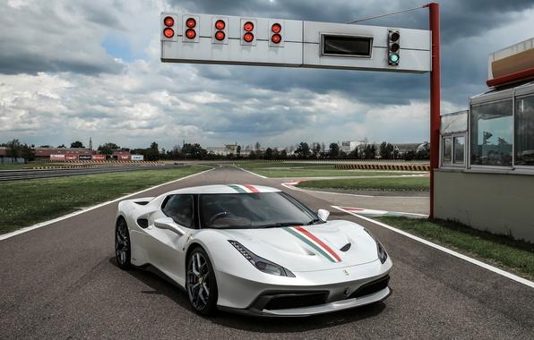 Picture car, auto, track, wallpaper, Ferrari, Ferrari, 458, MM Speciale