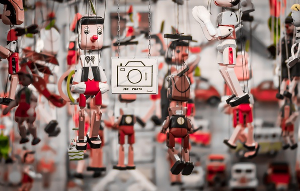 Picture macro, background, toys