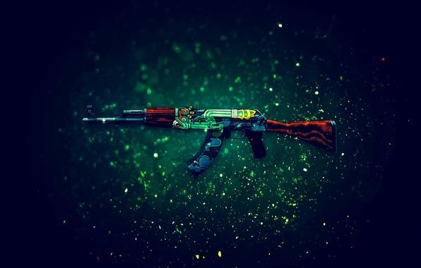Picture AK-47, Counter-Strike: Global Offensive, CS:GO, fire serpent, Fire Serpent
