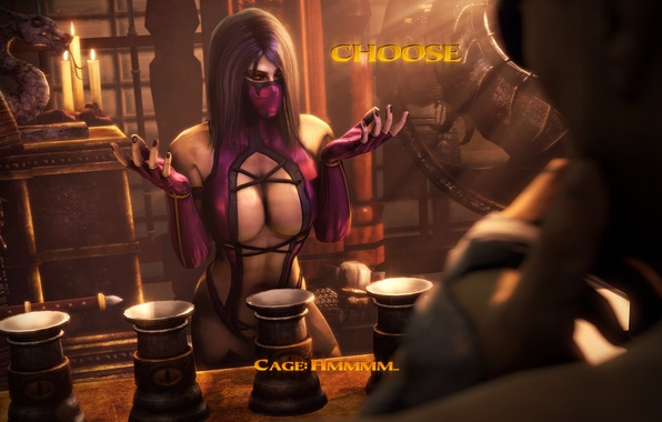 Picture chest, choice, mortal kombat, johnny cage, mileena
