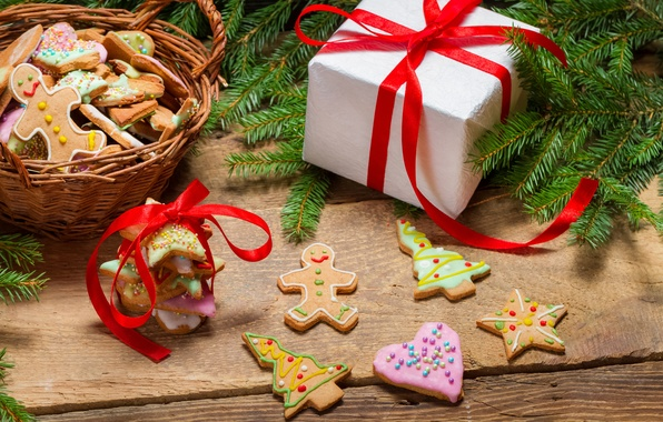 Picture new year, Christmas, cookies
