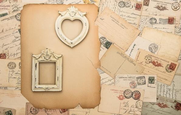 Picture vintage, vintage, frame, letters, brand, mail