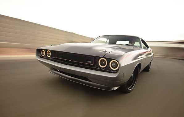 Picture the sky, lights, tuning, speed, Dodge, Challenger, muscle car, Dodge, tuning, 1970, the front, Muscle …