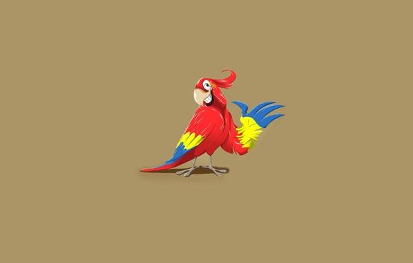 Picture smile, bird, minimalism, teeth, parrot, gesture