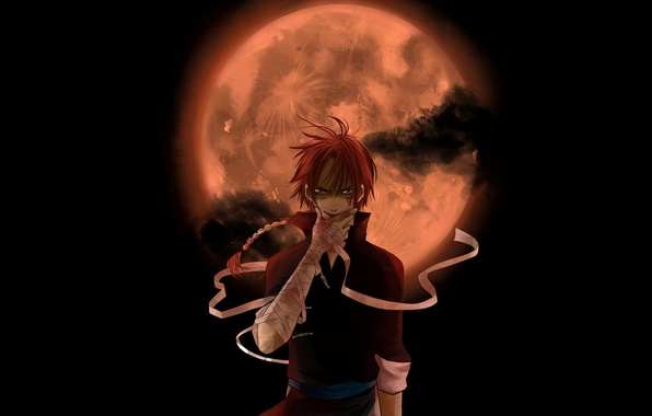 Photo Wallpaper Night The Moon Anime Look Gintama Kamui Yato