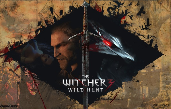 Picture The Witcher 2, The Witcher 3, LiVE SPACE studio, The Witcher 1, CDPRODJECT red