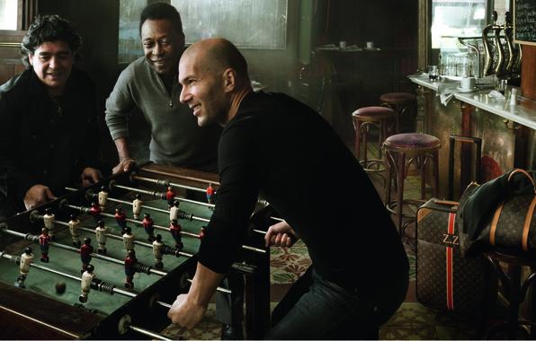 Picture Zidane, Maradona, Pele