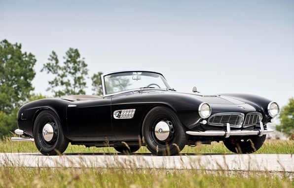 Picture black, BMW, BMW, convertible, classic, the front, 1957, Series 2, 507, series 2, beautiful car