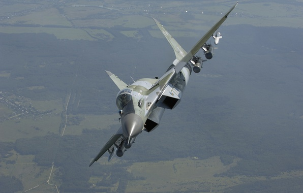 Picture flight, fighter, the area, turn, The Russian air force, multifunction, The MiG-29SMT, MiG-29SМТ, the 4+generation