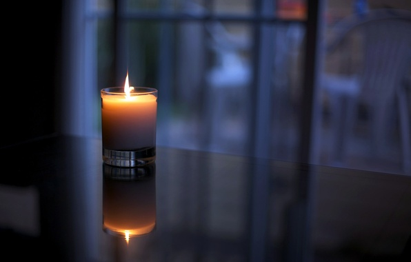 Picture glass, light, comfort, reflection, heat, table, fire, flame, candle, wax, Cup, window.
