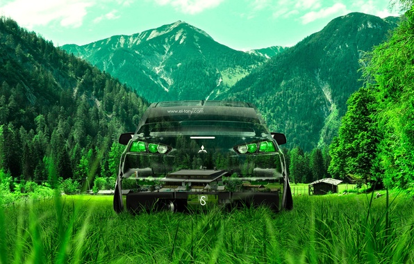 Picture Nature, Mountains, Grass, Style, Wallpaper, Mitsubishi, Lancer, Nature, Evolution, Grass, Photoshop, Photoshop, Green, Style, Lancer, …