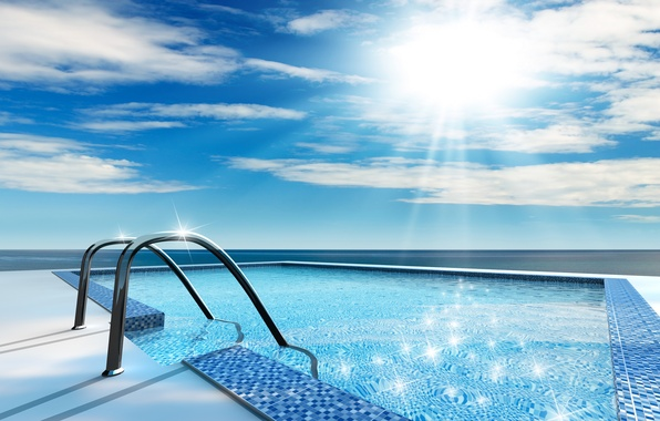 Picture summer, water, the sun, stay, pool, bathing