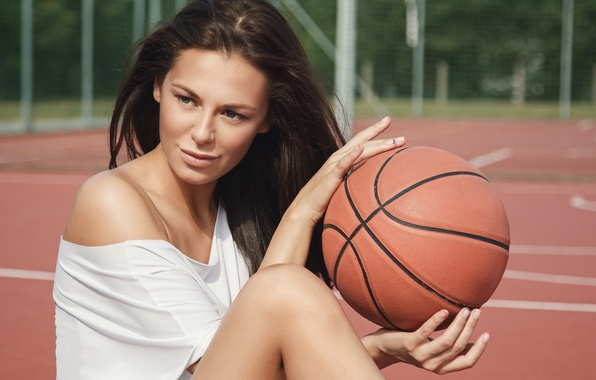 Picture summer, girl, hair, shorts, cutie, basketball