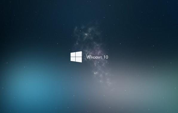 Picture Minimalism, Space, Microsoft, Wallpaper, Hi-Tech, Minimalism, Microsoft, Operating System, Windows 10, Operating System