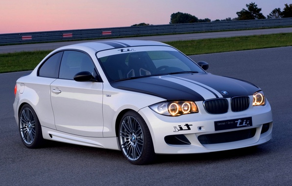 Picture The evening, White, BMW, The concept, The front, TEE, 1 Serie