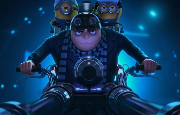 Picture glasses, helmet, Minions, Minions, Despicable Me 2, Gru, Despicable Me 2