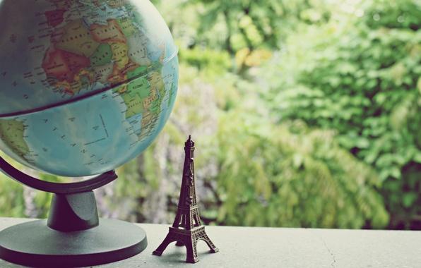 Picture the world, Eiffel tower, figurine, globe, figure