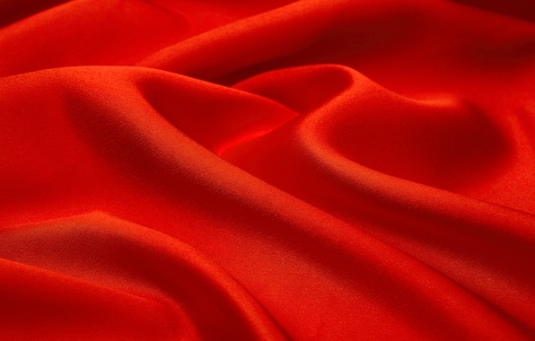 Picture wave, background, texture, fabric, red, folds
