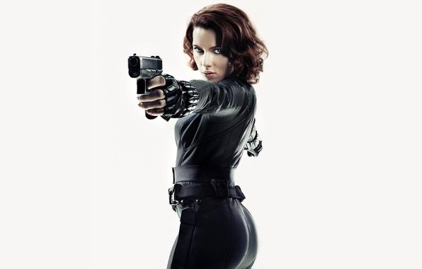 Picture the film, actress, white background, Scarlett Johansson, promo, Black Widow, scarlett johansson, Natasha Romanoff, The …