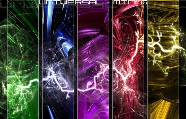 Photo wallpaper bright, style, element, the universe, elements, universal, zipper, universal thinking, lightning, the idea