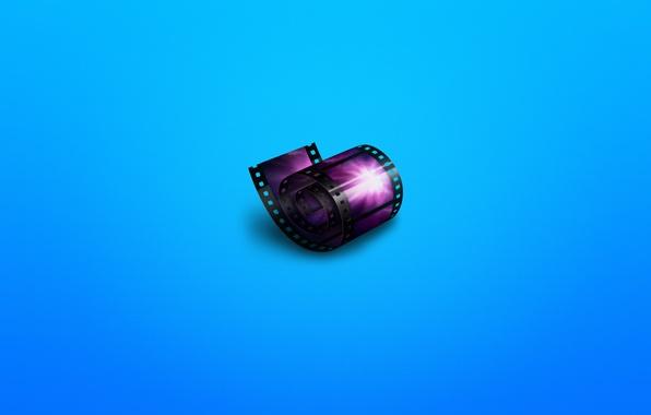 Picture movie, minimalism, cinema, film, film, bluish background, cinema