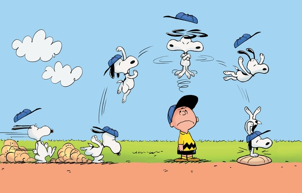 Picture jump, Charlie Brown, Snoopy, The Peanuts