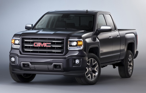 Picture car, pickup, GMC, Sierra, powerful, Extended Cab